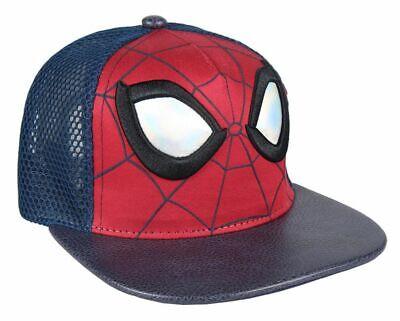 motivo Spiderman colore Cappello con visiera rosso//nero