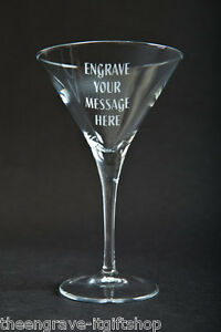 Personalised Martini Glass - Engraved gift - Gift Boxed
