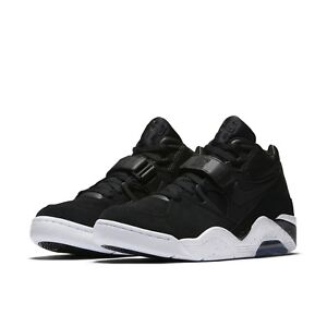 newest e45a7 92abf Image is loading Nike-Mens-Air-Force-180-Black-White-Casual-
