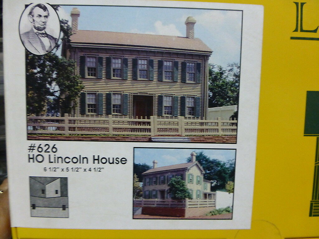 Branchline Laser-Art Structures HO The Lincoln House 6-1 2 x 5-1 2 x 4 1 2