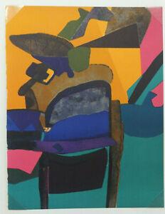 Maurice-ESTEVE-1904-1968-Bosaille-1974-lithographie-originale-Cahier-d-039-Art