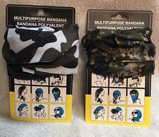 2- Multi Purpose Head Face Mask Snood Bandana Neck Sport Scarf Camo Camouflage