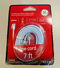 New 2PK  5 FT Telephone Cable RJ11 Male To Male Phone Line Cord Gray Color G46