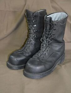 Used-Canadian-military-combat-boots-size-255-92-approx-7-5-Steel-Toe-z29