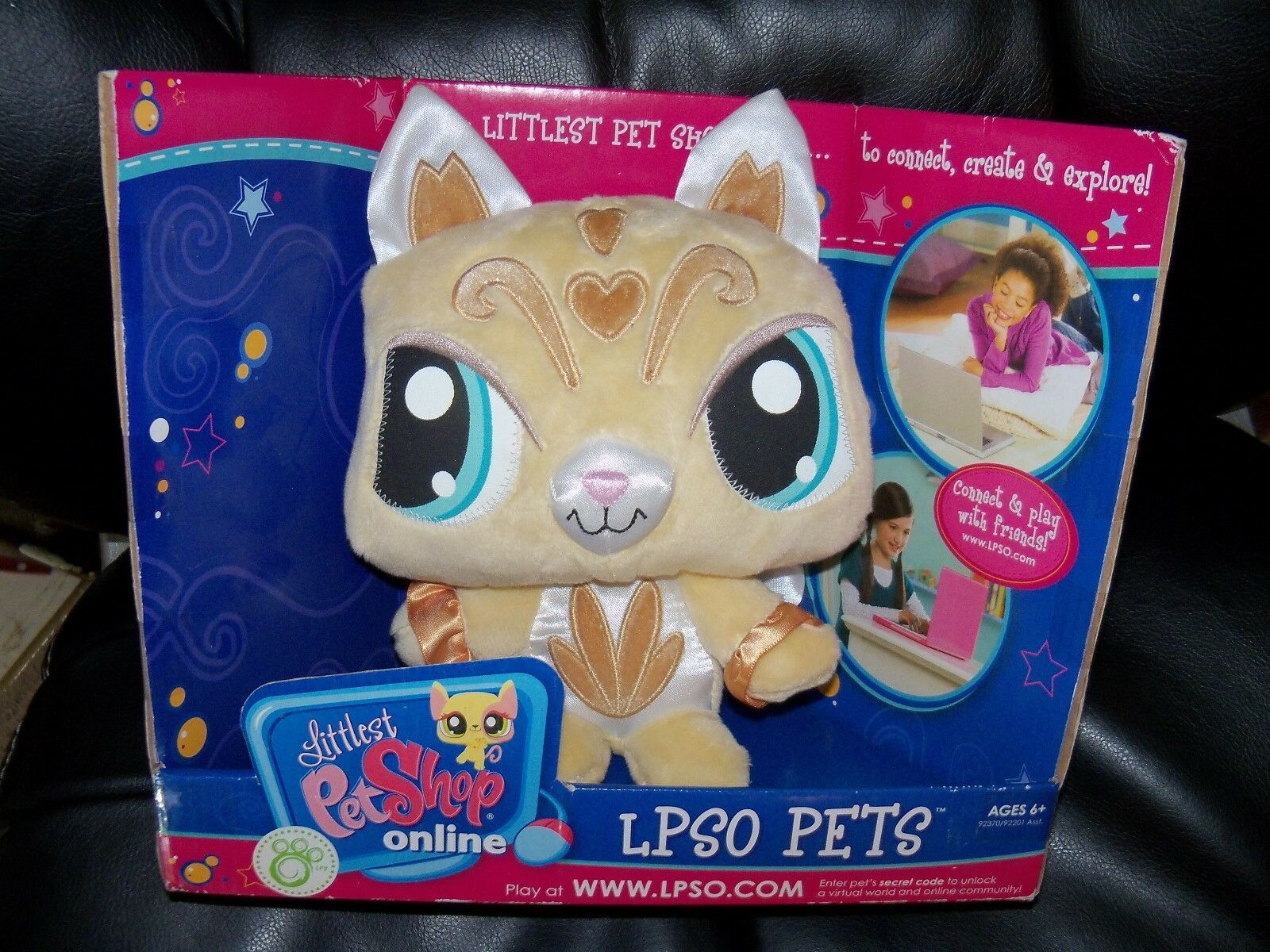 Littlest Pet Shop Lpso Virtual Online Online Online Pets golden Kitty NEW dd7262