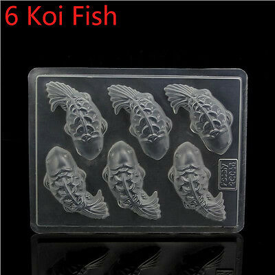 Hot 3D Koi Fish Cake Chocolate DIY Mould Jelly Handmade Sugarcraft Plastic Mold