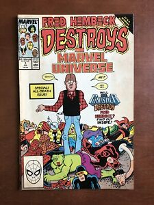 Fred-Hembeck-Destroys-Marvel-Universe-1-1989-7-5-VF-Key-Issue-Comic-Book