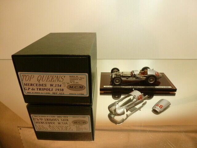 TOP QUENTEN 423 MERCCEES BENZ W154 GP de TRIPOLI 1938 --1 43 --EXELLLENT IN BOX