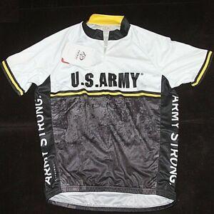 Primal Wear Men s US Army Strong Black Print 3 4 Zip Cycling Jersey ... 8b3035313