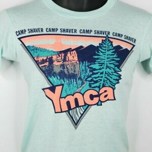 YMCA-Camp-Shaver-T-Shirt-Vintage-80s-New-Mexico-Made-In-USA-Youth-Large-Size-XS