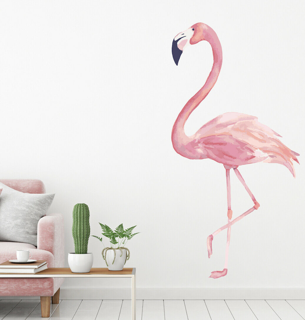 Flamingo Wall Decal WaterFarbe Sticker Art Decor Room Vinyl SY03