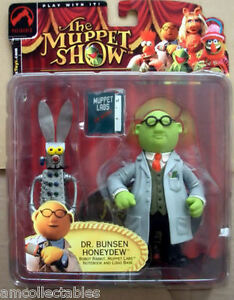 Muppets Show 25 Years - Palisades Figurine Robot Lapin Dr.bunsen Honeydew
