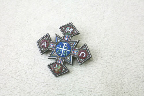 alte Lapel Pin Anfang und End Cross Church Pin