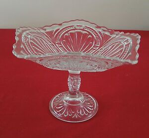 BRYCE-HIGBEE-ADMIRAL-RIBBED-ELLIPSE-COMPOTE-EAPG-ANTIQUE-PRESSED-PATTERN-GLASS