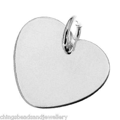 UnabhäNgig Sterling Silver 20mm Heart Charm For Engraving Pk1 Pk5 Im Sommer KüHl Und Im Winter Warm