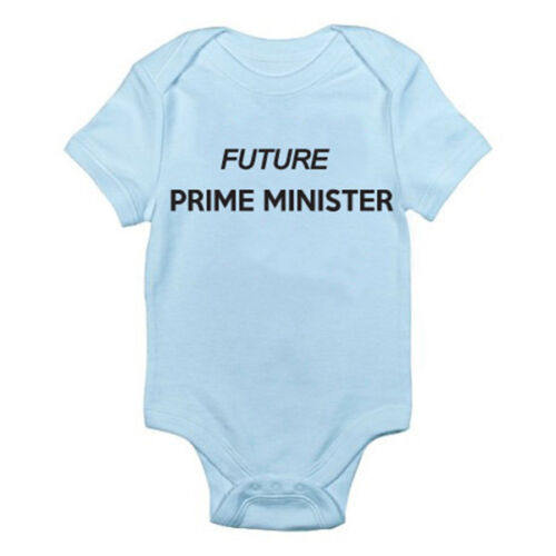 London FUTURE PRIME MINISTER Politics Novelty Themed Baby Grow Suit