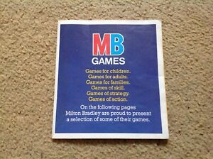 Board-Game-MB-Retro-Advertising-Leaflet-Christmas-Games-amp-Toys-Free-UK-Post-1985