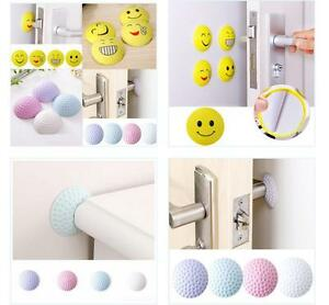 Image Is Loading Self Adhesive Rubber Door Knob Handle Wall Shield