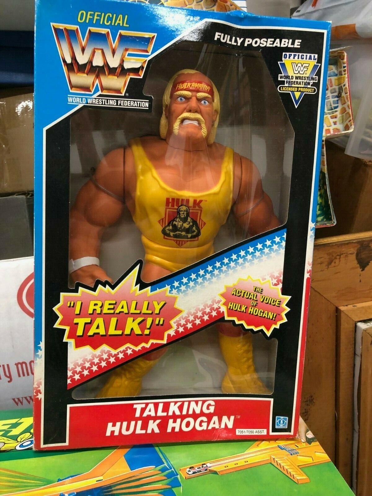 Hasbro WWF Hulk Hogan Que habla Figura