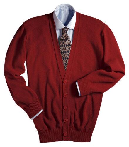 351 5XL XS Edwards Garment Men/'s V-Neck Stitch Cardigan Sweater