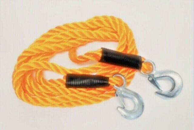 Auto-Anbau- & -Zubehörteile Abschleppseil 5000kg 5T mit 2 Haken Schleppseil Abschlepphilfe Zugseil Seil