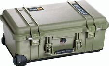 PELICAN 1510 OD GREEN CASE WITH FOAM AIRLINE CARRY ON