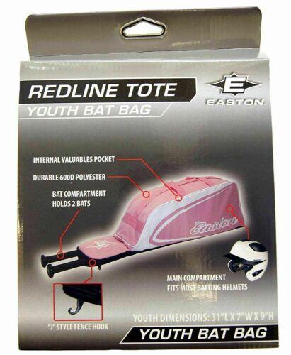 "Pink Fits 2 Bats /& Helmet Details about  /Easton Redline Youth Baseball Bat Bag 31/"" X 7/"" X 9/"""