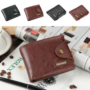 f65c71b34b74 Details about Mens PU Leather Wallet Pocket Card Clutch ID Credit Card  Bifold Coin Cash Purse