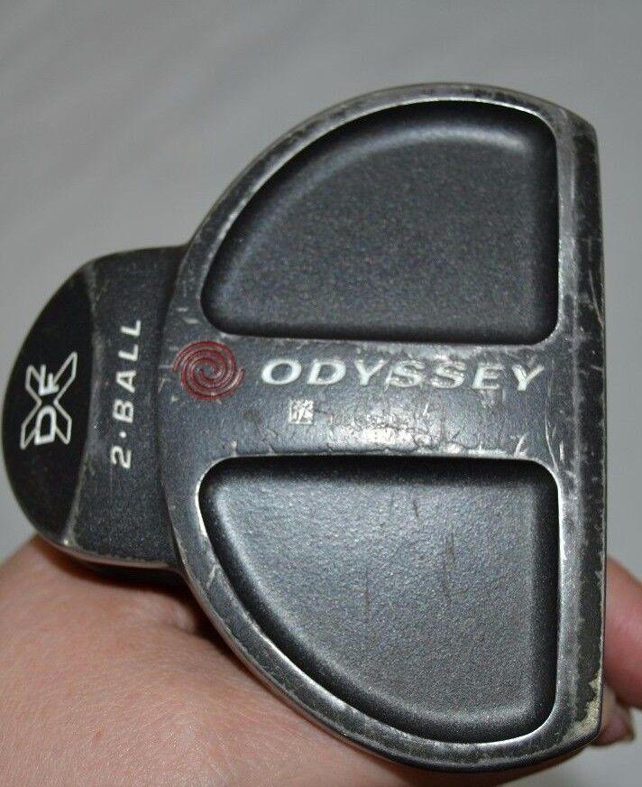 Odyssey 2-Ball XDF Putter Steel Shaft RH Mens New Grip w Head cover