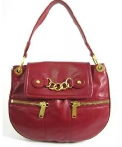 Image is loading CYNTHIA-ROWLEY-Martha-Red-leather-Handbag-Crossbody-Purse- 4d2dbd703e