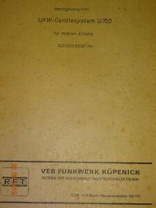 UKW-Geraetesystem-U700-Montagevorschrift-2-Baende-RFT-Funkwerk-Koepenick