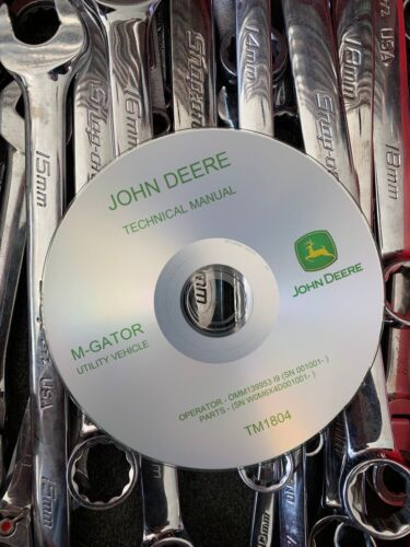 BEST JOHN DEERE M-GATOR M UTILITY XUV Technical Service Repair Manual TM1804 CD