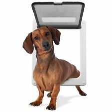"Medium 11""X 9""  Lockable Magnetic Pet Dog Cat Flap Door"