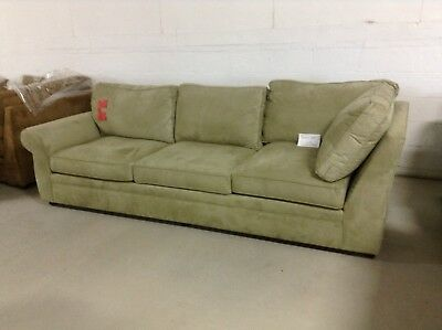 Pottery Barn Pearce Couch Sofa Sectional Jade Stone