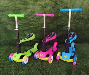 Fascol Monopattino 3 Ruote per Bambino Scooter Pieghevole con Altezza Regolabile e Ruote Luminose Perfetto per Bambini 3-12 Anni (Verde)