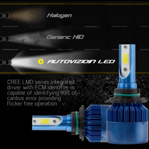2x 388W 38800LM CREE LED HEADLIGHT BULBS 9006 HB4 9012 6500K HIGH POWER LOW BEAM