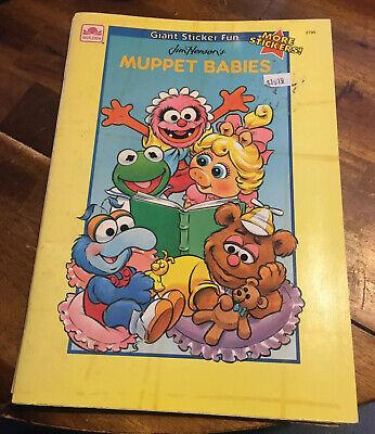 Vtg 90s Muppet Babies Sticker Book Coloring Giant Sticker Fun Golden Dead Stock 33500781445 Ebay