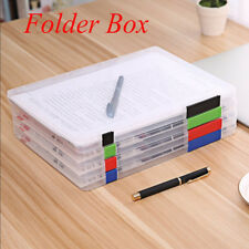 Plastic Paper Organizer Transparent Storage Document Case A4 Durable File Folder