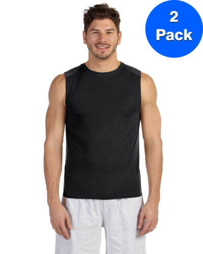 Sleeveless T-Shirt 2 Pack G427 All Sizes Gildan Mens Performance?? 4.5 oz