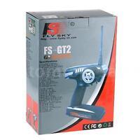 Fs-gt2 2ch 2.4 Ghz Radio Remote Control Transmitter Receiver Rc Car Boat Us M1a4