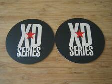 "2x KMC XD Series Monster 778 Matte Flat Black Logo Sticker Only 3 1/16""Diameter"