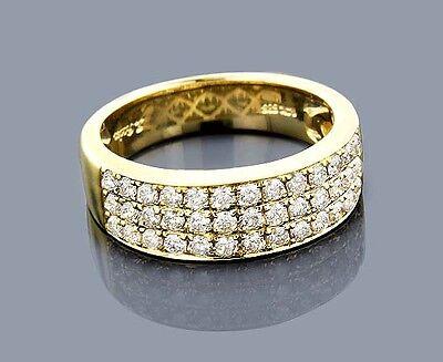 Diamant Ring Goldschmuck 14 Karat 585er Gelbgold 1,35 Karat Wesselton weiß Neu