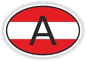 1x AUSTRIA STICKER WAVING FLAG BUMPER decal