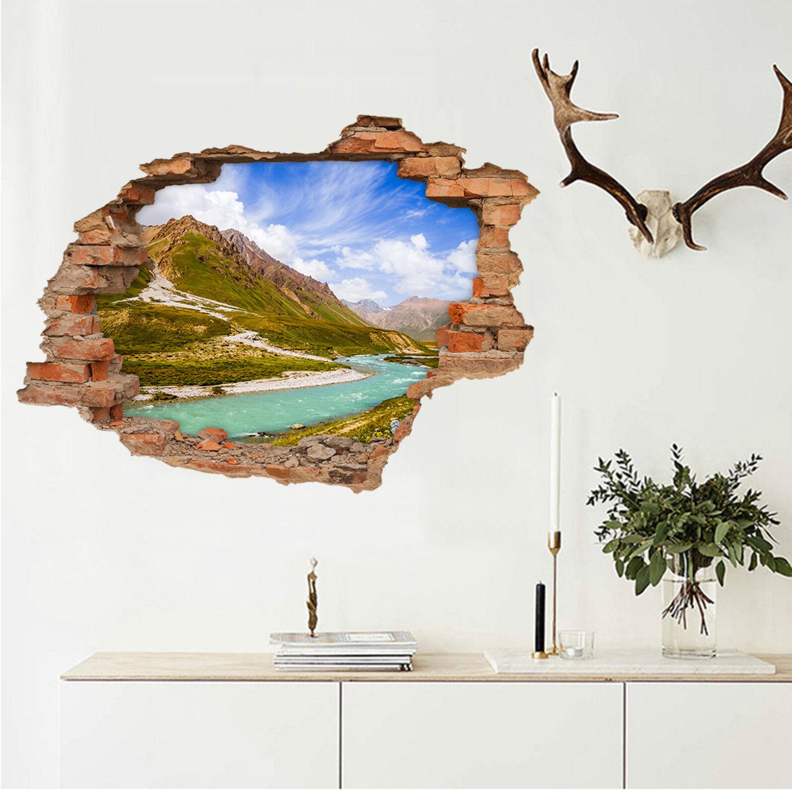 3D Landschaft 47 Mauer Murals Aufklebe Decal Durchbruch AJ WALLPAPER DE Lemon