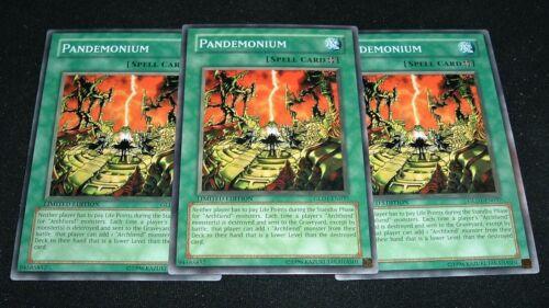 Yugioh Pandemonium GLD1-EN037 NM//MINT 3X Common Limited Edition