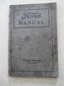 original 1919 model t ford owner s manual ebay rh ebay com au 1925 Model T 1927 Model T