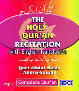 Details about Qari Abdul Basit Quran Recitation with English translation -  mp3 CD (QET1)
