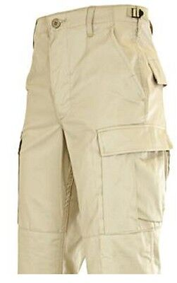 Mens BDU Shorts Longer Length Khaki Polyester Cotton Relaxed Fit Rothco 7965
