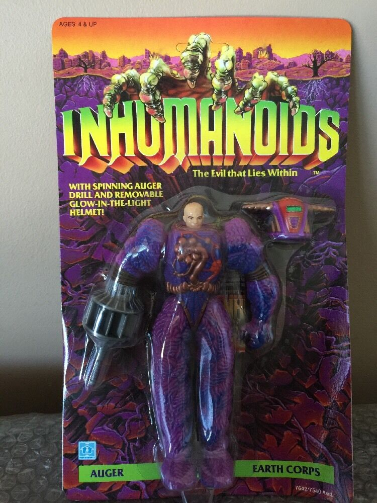 Vintage 1986 Hasbro Inhumanoids Earth Corps AUGER Action Figure Unpunched