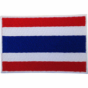 Thailand-Flag-Patch-Iron-Sew-On-Embroidered-Badge-Thai-T-Shirt-Trousers-Applique